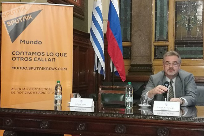 El embajador de Rusia en Uruguay, Nikolay Sofinskiy
