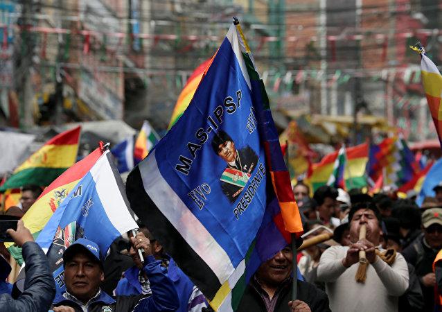 Partidarios de Evo Morales en Bolivia