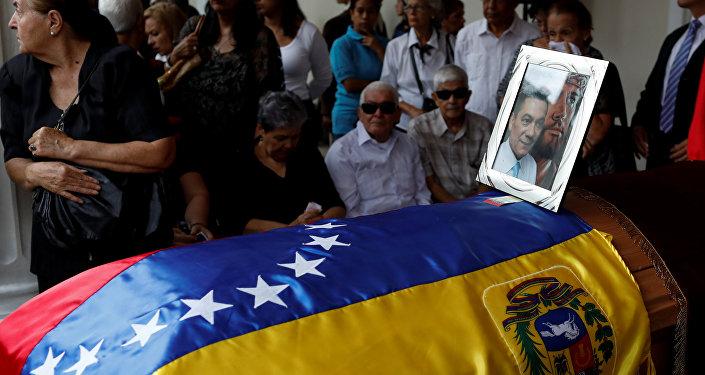 El funeral del opositor venezolano Fernando Albán