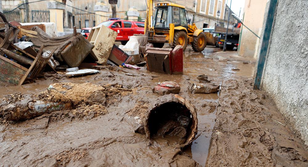 Las inundaciones en Mallorca, España