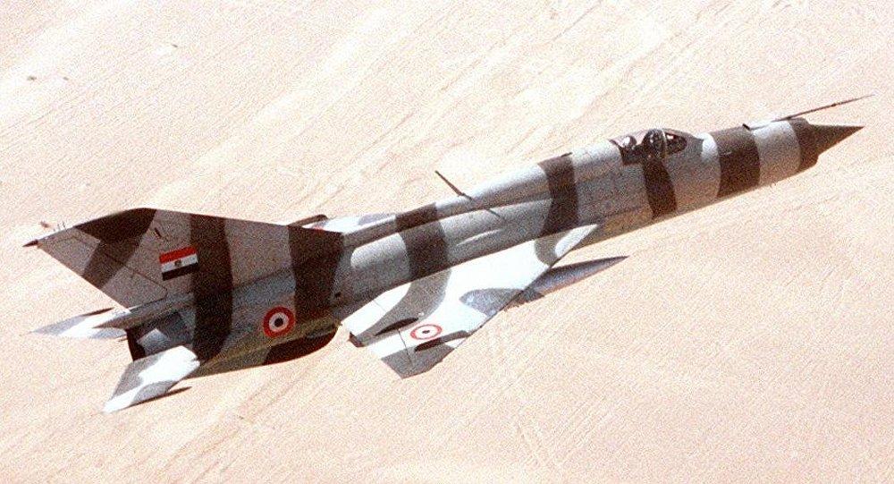 Un MiG-21 de las Fuerzas Aéreas de Egipto