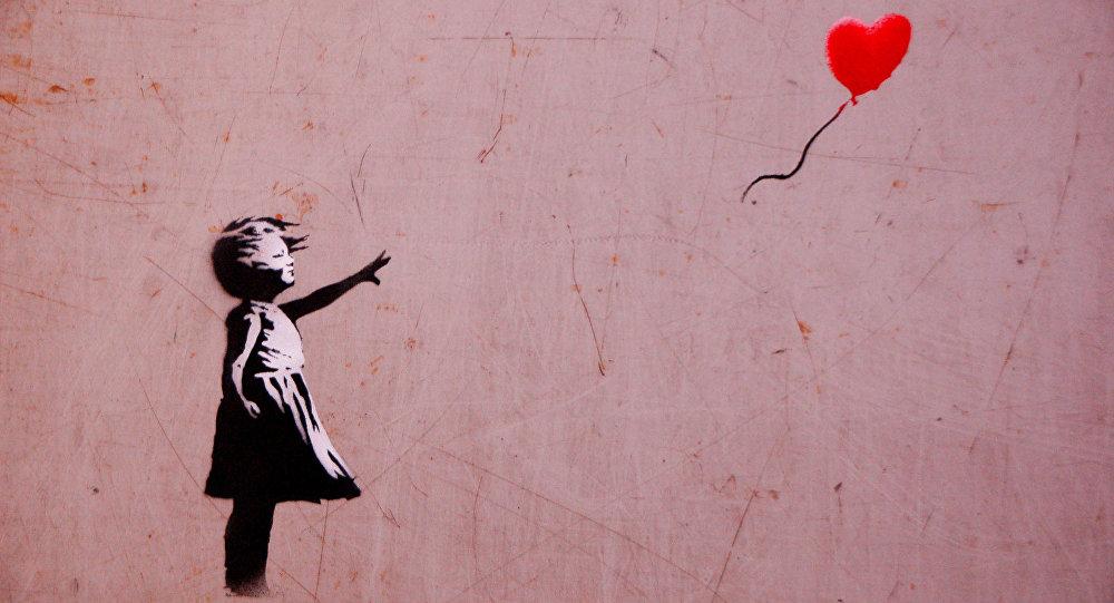 'Niña con balón', la obra de Banksy (Archivo)