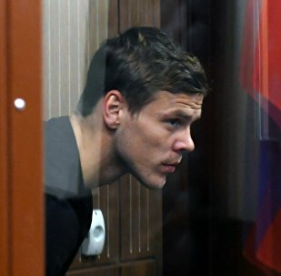 Alexandr Kokorin, futbolista ruso, en el tribunal Tverskói de Moscú