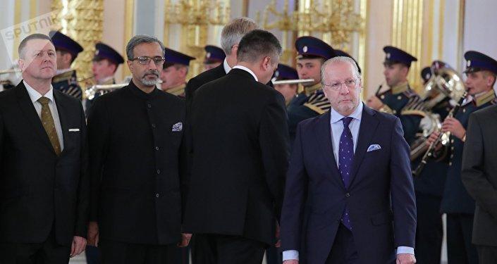 Fernando Valderrama Pareja, nuevo embajador de España en Rusia, en el Kremlin