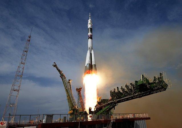 El lanzamiento de una Soyuz
