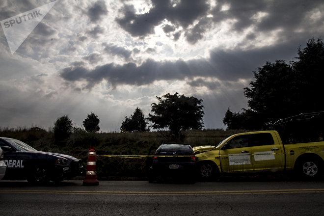 Choque en el kilómetro 35 de la carretera 95 México-Cuernavaca