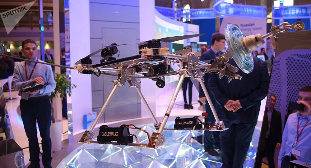 El dron ruso destinado para detectar rupturas en las líneas de suministro de energía eléctrica de alto voltaje