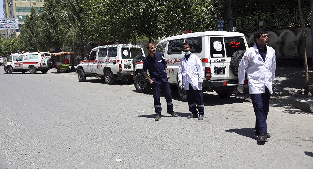 Unas ambulancias en Afganistán (archivo)