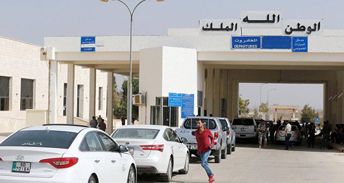 La frontera entre Siria y Jordania