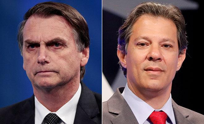 Jaír Bolsonaro (izda.) y Fernando Haddad (dcha.), los dos principales candidatos a la presidencia de Brasil