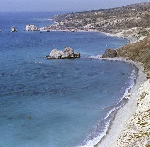 Vista de la costa de Chipre