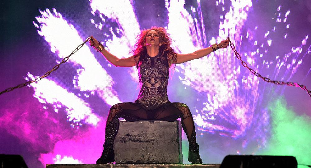 Shakira en su concierto en México