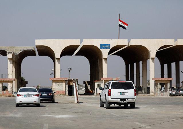 El paso de Nasib en la frontera entre Siria y Jordania