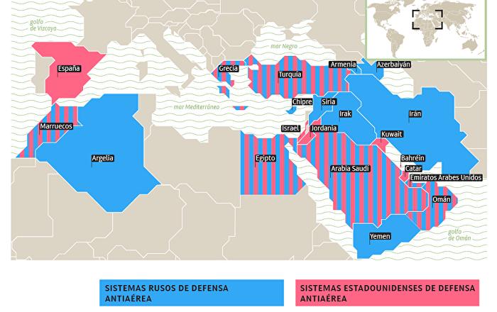 La 'geografía' antiaérea de Rusia y EEUU