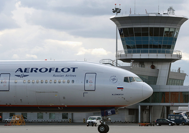 Un avión de la compañía rusa Aeroflot
