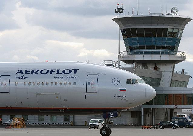 Un avión de la compañía aérea Aeroflot