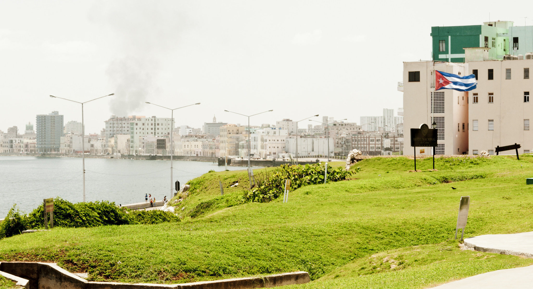 En los jardines del Hotel Nacional de Cuba los visitantes pueden conocer sobre la Crisis de los Misiles