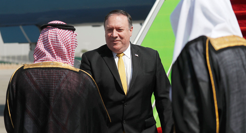 Mike Pompeo, secretario de Estado de EEUU, llega a Riad