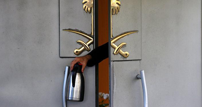 La puerta del Consulado General de Arabia Saudí en Estambul, Turquía (imagen referencial)