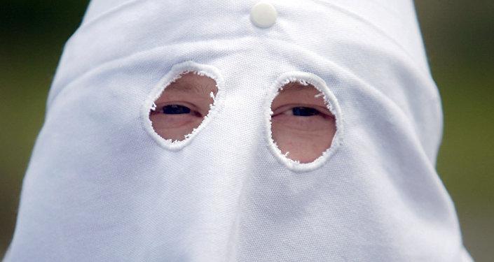 Un miembro de Ku Klux Klan (Archivo)
