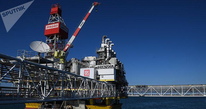 Una plataforma petrolífera de Lukoil