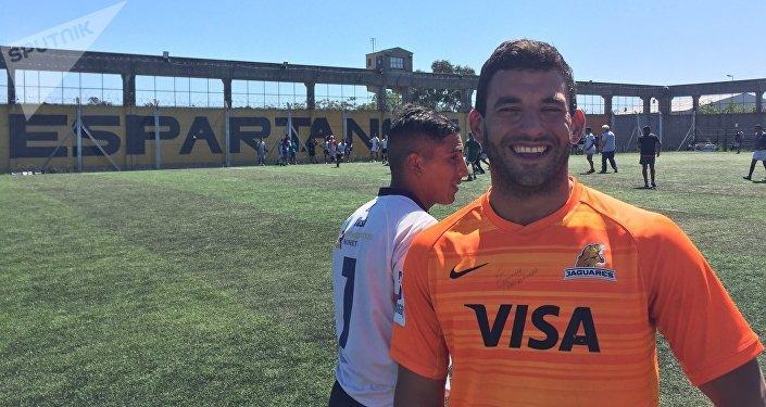 Ezequiel Baraja, trabaja para la Fundación Espartanos como coordinador deportivo