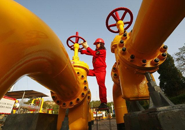 Gasoducto de gas natural en China (archivo)