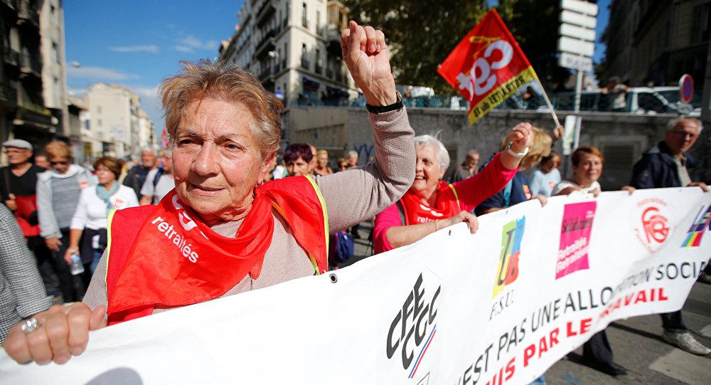 Jubilados protestan contra las reformas (archivo)