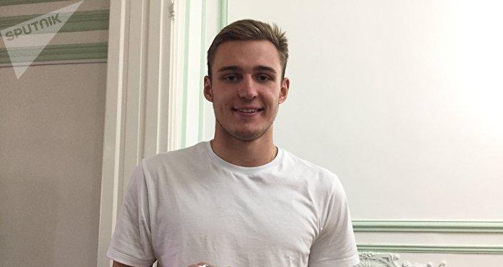 Daniil Markov, integrante del equipo juvenil de natacion de Rusia