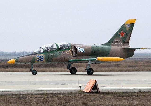 Avión de entrenamiento L-39 Albatros ruso (archivo)