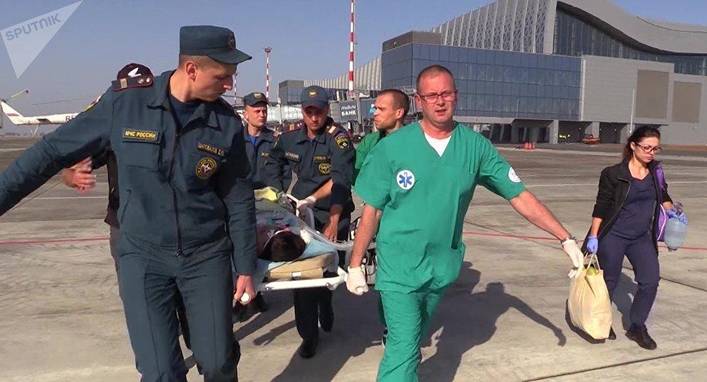 Evacuación de los heridos de la masacre de Kerch