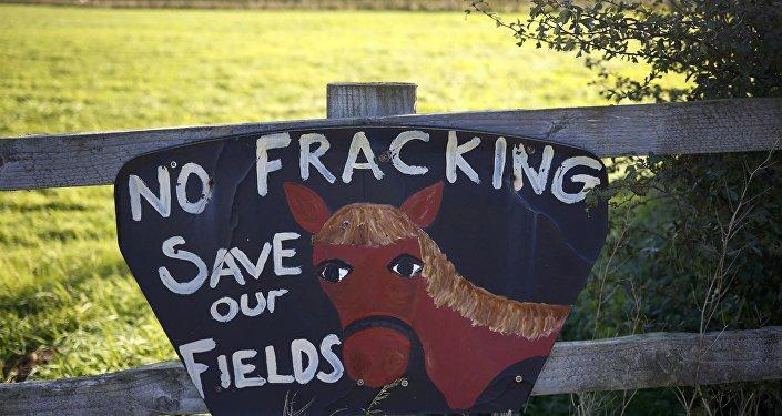 Un signo contra la fracturación hidráulica (archivo)