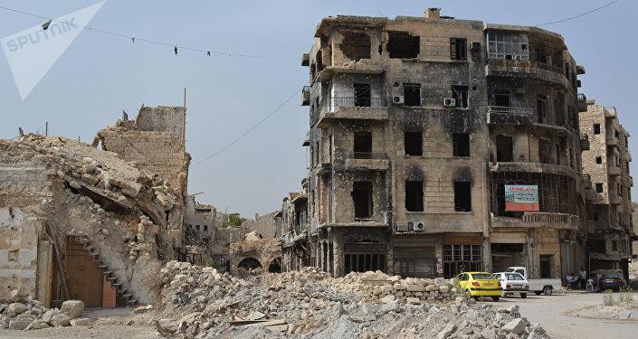 Una de las calles de Alepo