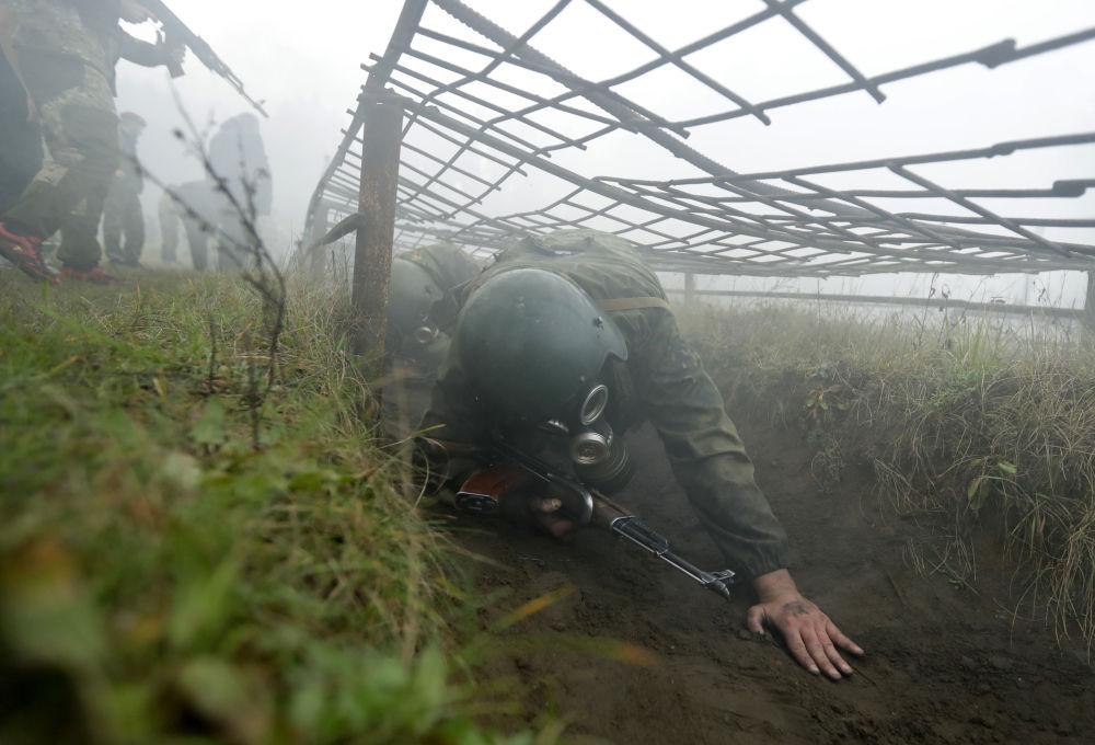 La boina granate: la 'prueba de fuego' para los militares más valientes de Bielorrusia