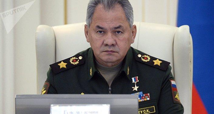 Serguéi Shoigú, ministro de Defensa ruso, en una reunión de los departamentos castrenses de Rusia y Bielorrusia