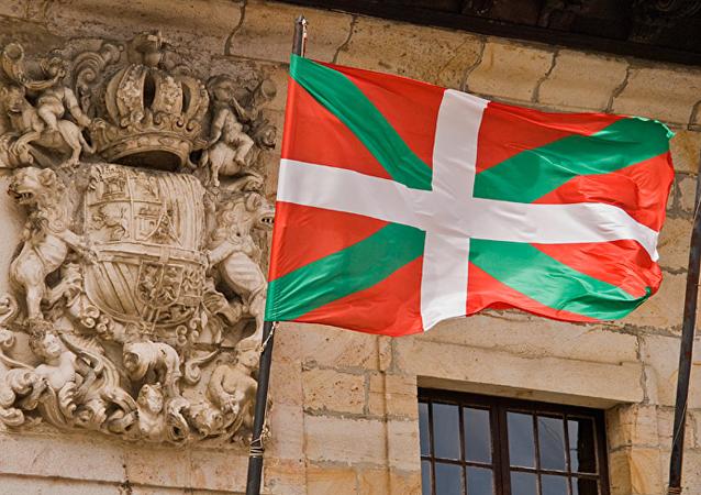 Bandera oficial del País Vasco adoptada por el Estatuto de Autonomía de 1979