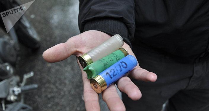 Cartuchos que se usaron durante los disturbios en Argentina