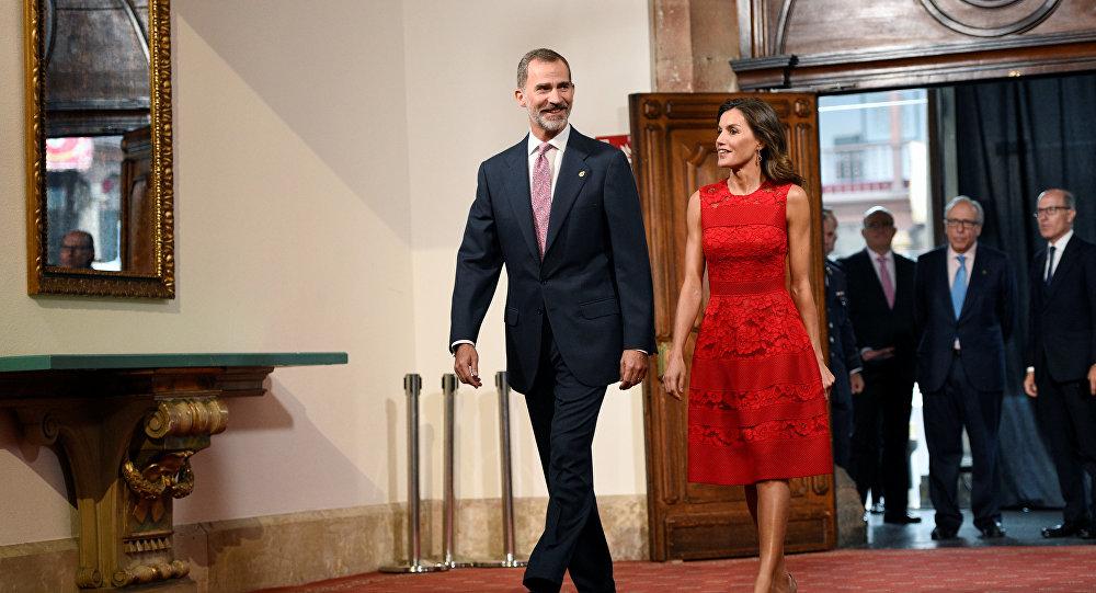 El rey Felipe VI de España y la reina Letizia
