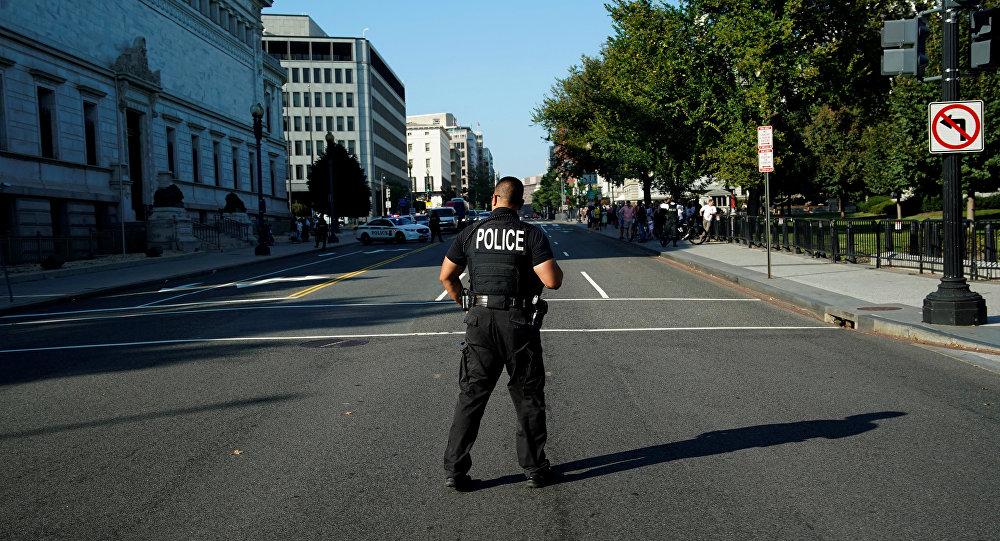 Un policía estadounidense