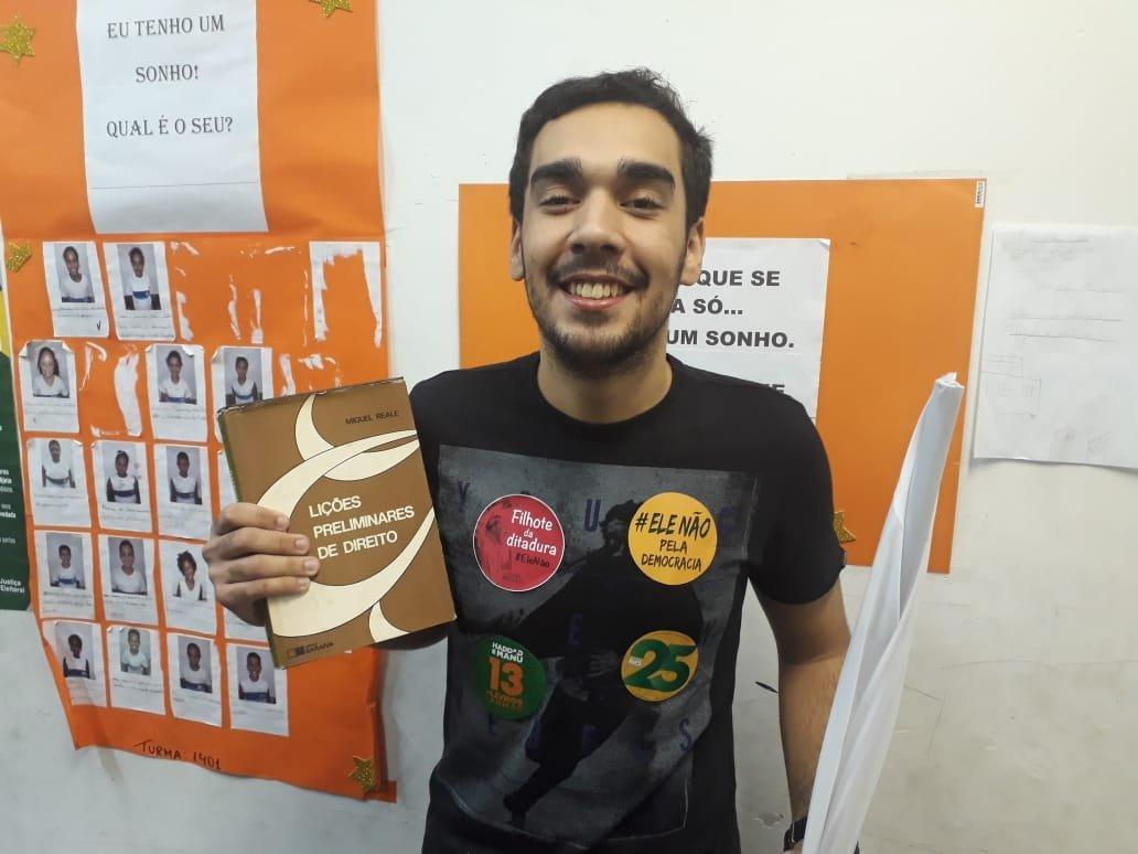 Matheus Costa, estudiante de Derecho