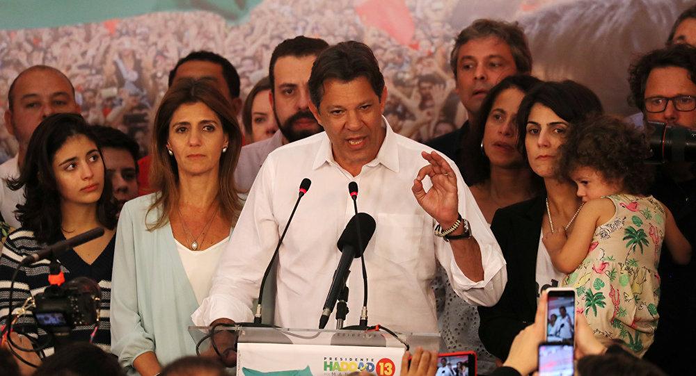 Fernando Haddad, candidato presidencial brasileño (archivo)