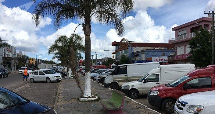 Chuí, ciudad fronteriza entre Brasil y Uruguay