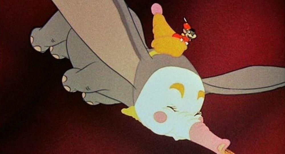 Escena de la película animada 'Dumbo' (Walt Disney, 1941)