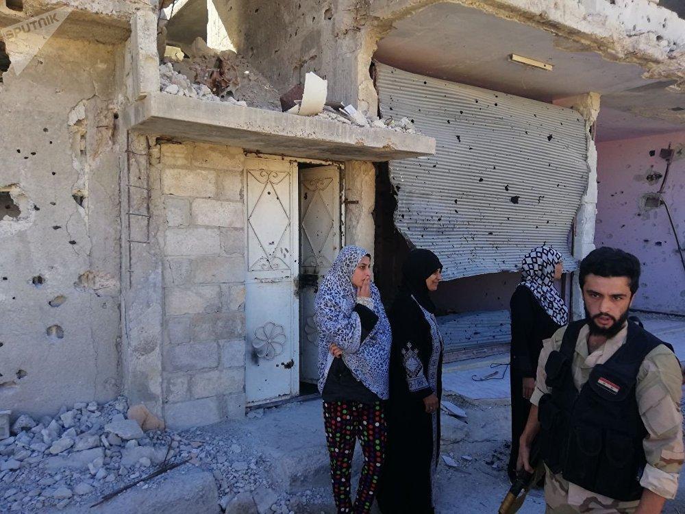 Refugiados en Deraa
