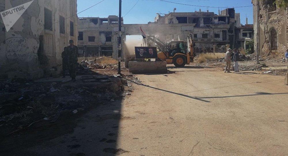 Edificios destruidos en Deraa