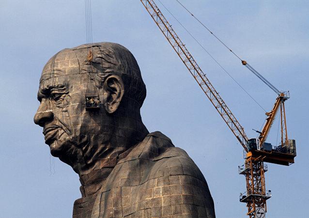 La Estatua de la Unidad en la India (archivo)