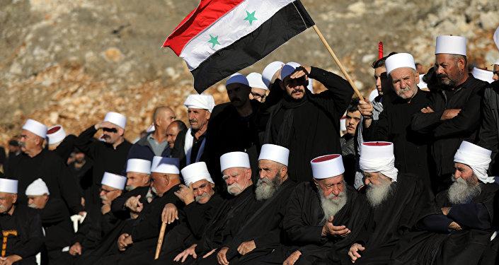 Los árabes drusos en los Altos del Golán protestan contra las elecciones israelíes