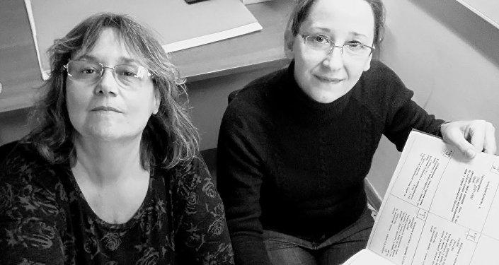 Hermanas cineastas Silvana y Ana María Jarmoluk, realizadoras del documental Volodia