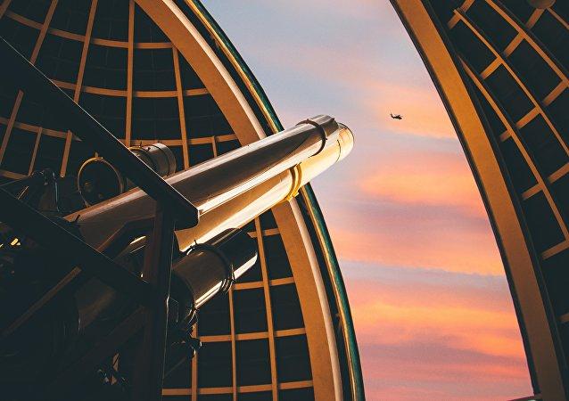 Un telescopio (imagen referencial)