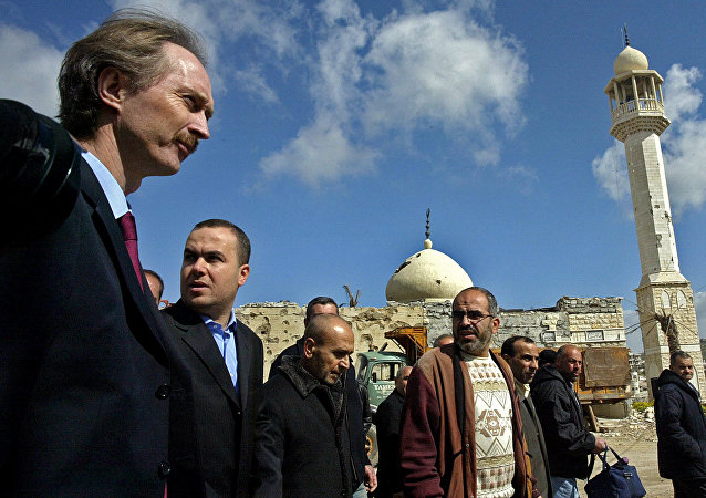 Geir Pedersen (izquierda), nuevo enviado especial para Siria